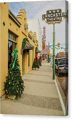 Grapevine Texas At Christmas Canvas Print by Allen Sheffield