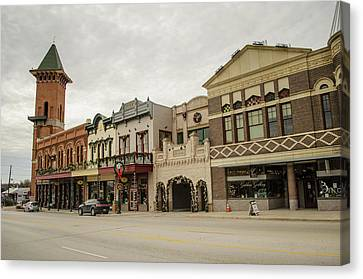 Grapevine Texas Downtown Canvas Print by Allen Sheffield