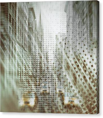 Graphic Art Nyc 5th Avenue Traffic Iv Canvas Print by Melanie Viola