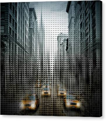 Graphic Art Nyc 5th Avenue Traffic V Canvas Print by Melanie Viola
