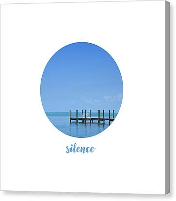 Graphic Art Silence - Oceanview Canvas Print by Melanie Viola