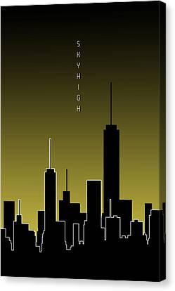 Times Square Canvas Print - Graphic Art Skyhigh - Yellow by Melanie Viola