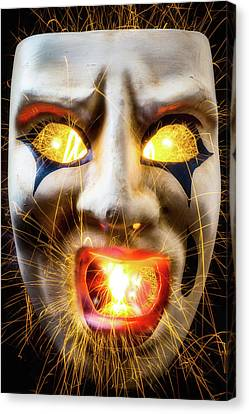 Graphic Hot Mask Canvas Print by Garry Gay