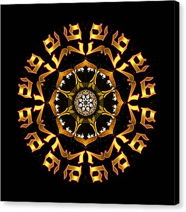 Graphic Number Three Canvas Print by Roger Soule