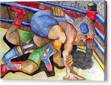 Grapple Canvas Print by Jame Hayes