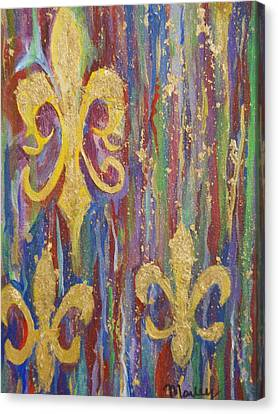 Gras De Lis Canvas Print by Made by Marley