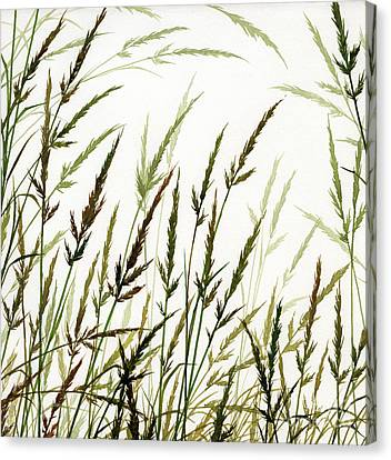 Canvas Print featuring the painting Grass Design by James Williamson