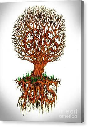 Grass Roots Canvas Print