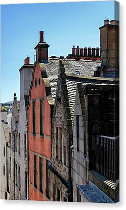 Canvas Print featuring the photograph Grassmarket In Edinburgh, Scotland by Jeremy Lavender Photography