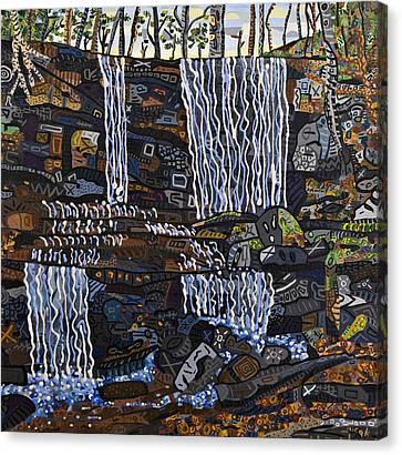 Grassy Creek Falls Canvas Print by Micah Mullen