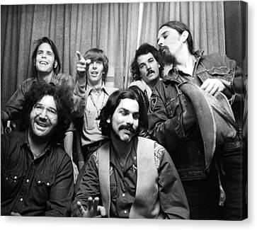Rock And Roll Canvas Print - Grateful Dead 1970 London by Chris Walter