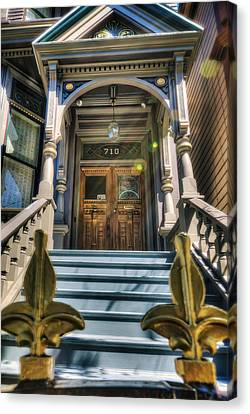 Grateful Dead House - 710 Ashbury Street - San Francisco Canvas Print by Jennifer Rondinelli Reilly - Fine Art Photography