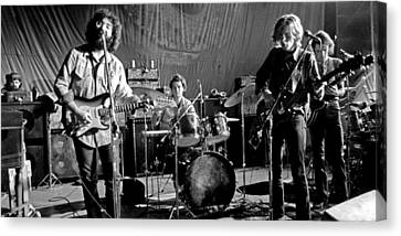 Hall Canvas Print - Grateful Dead In Concert - San Francisco 1969 by Dan Haraga