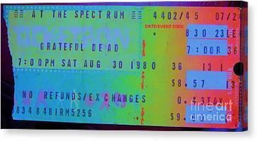 Grateful Dead - Ticket Stub Canvas Print