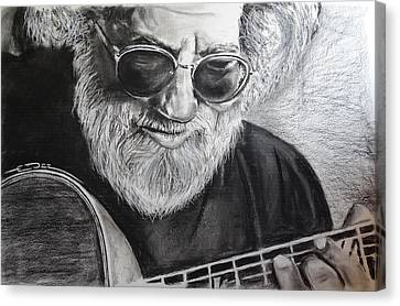 Canvas Print featuring the drawing  Grateful Dude by Eric Dee