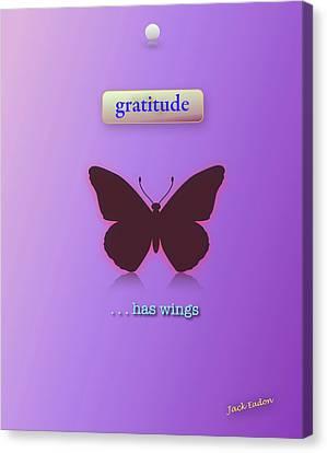 Gratitude Has Wings Canvas Print by Jack Eadon