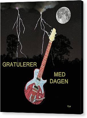 Gratulerer Med Dagen Canvas Print
