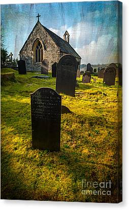 Tomb Canvas Print - Grave Yard by Adrian Evans