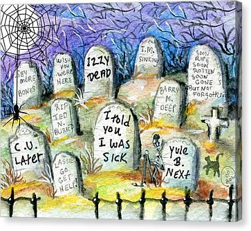 Grave Yard Canvas Print by Sylvia Pimental
