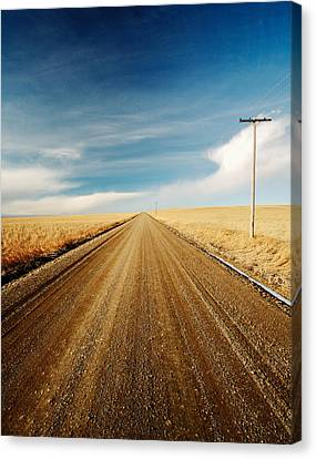 Gravel Lines Canvas Print by Todd Klassy