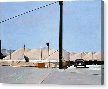 Gravel Piles Downtown La Canvas Print