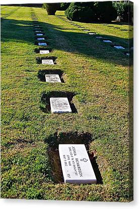 Graves In Formation Canvas Print by E Robert Dee