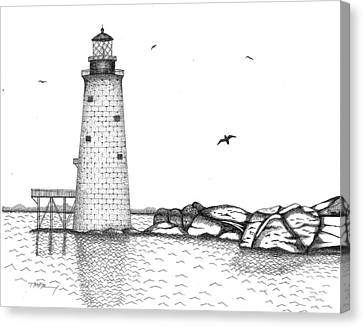Graves Lighthouse - Boston Canvas Print by Tim Murray