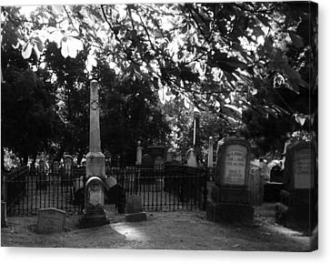 Graveyard 2 Canvas Print
