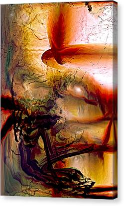 Gravity Of Love Canvas Print by Linda Sannuti
