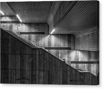 Munich Canvas Print - Gray On Gray by Klaus Lenzen