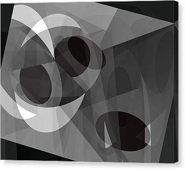 Canvas Print featuring the digital art Gray On Gray by Lynda Lehmann