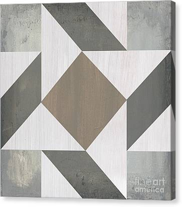 Block Quilts Canvas Print - Gray Quilt by Debbie DeWitt