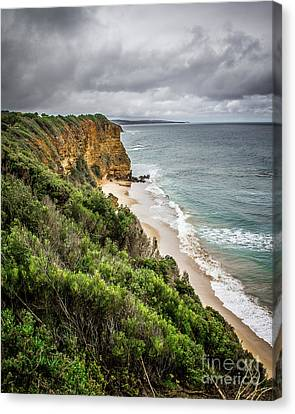 Canvas Print featuring the photograph Gray Skies by Perry Webster