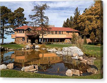 Historic Architecture Canvas Print - Graycliff Estate by Peter Chilelli
