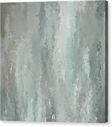 Grayish Blue Abstract Art Canvas Print by Lourry Legarde