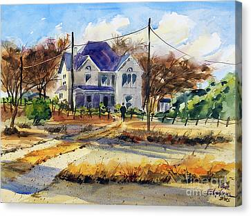Grayson County Farmhouse Canvas Print by Ron Stephens