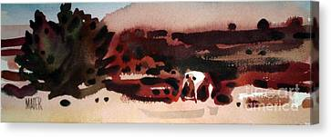 Grazing Pinto Canvas Print by Donald Maier