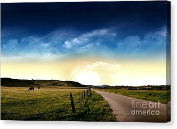 Grazing Time Canvas Print by Rod Jellison