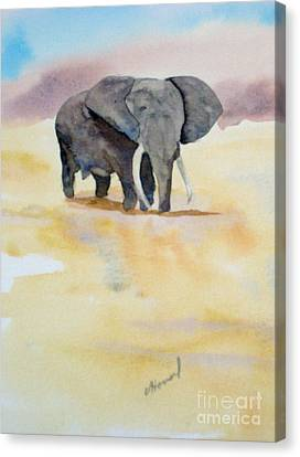 Canvas Print featuring the painting Great African Elephant  by Vicki  Housel