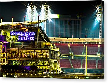 Great American Ballpark Canvas Print by Keith Allen