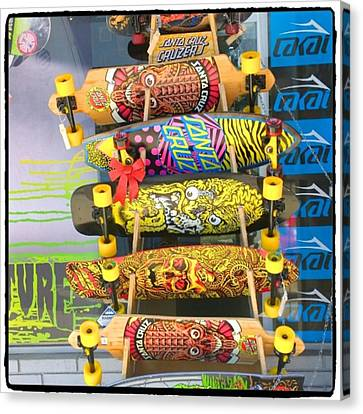 Great Art On These Skateboards! Canvas Print by Shari Warren