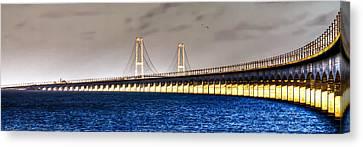 Great Belt Bridge Canvas Print by Gert Lavsen