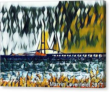 Great Belt Bridge, Denmark Canvas Print by Marvin Lovenfeldt