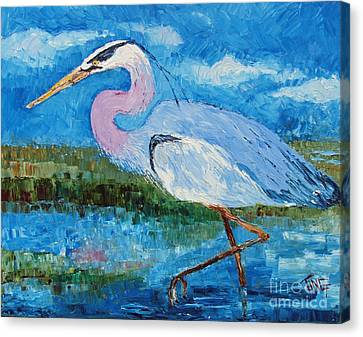 Great Blue Heron Canvas Print by Doris Blessington