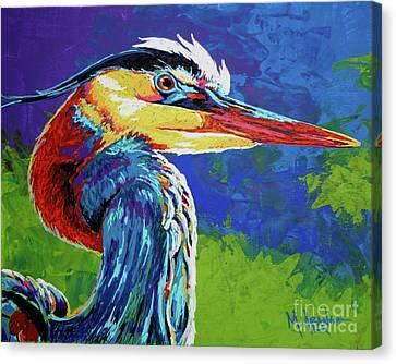 Great Blue Heron Canvas Print by Maria Arango