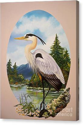 Great Blue Heron Canvas Print by Sigrid Tune