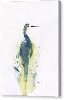 Blue Heron Turning Canvas Print