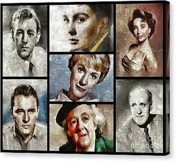 Great British Classic Movie Stars Canvas Print by Esoterica Art Agency