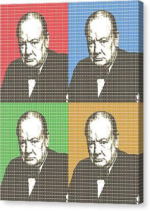 Briton Canvas Print - Great Briton - Churchill X 4 by Gary Hogben
