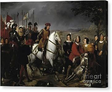 Great Captain Gonzalo De Cordoba After The Battle Of Cerignola Canvas Print by Celestial Images